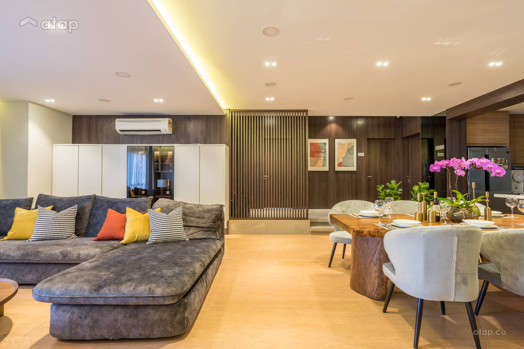 Contemporary Living Room @ Posh &  Polished : State-Of-The-Art Residence