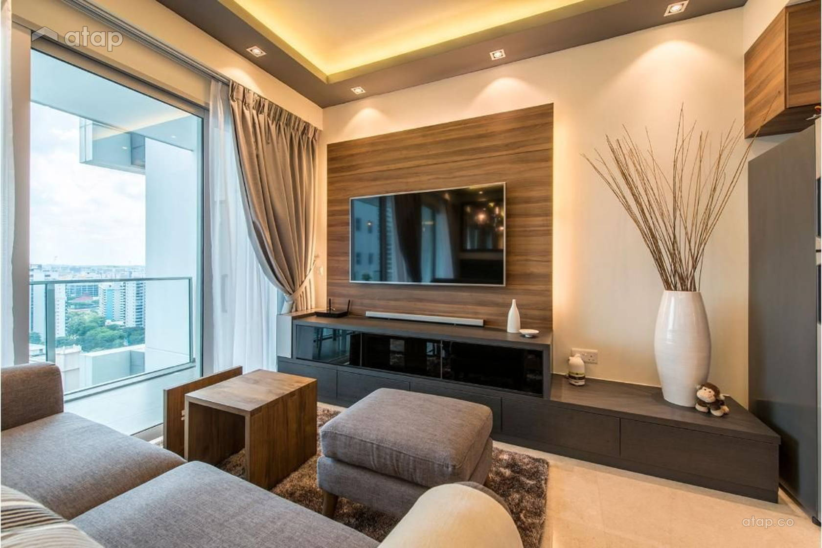 Contemporary modern living room condominium design ideas for Modern living room malaysia