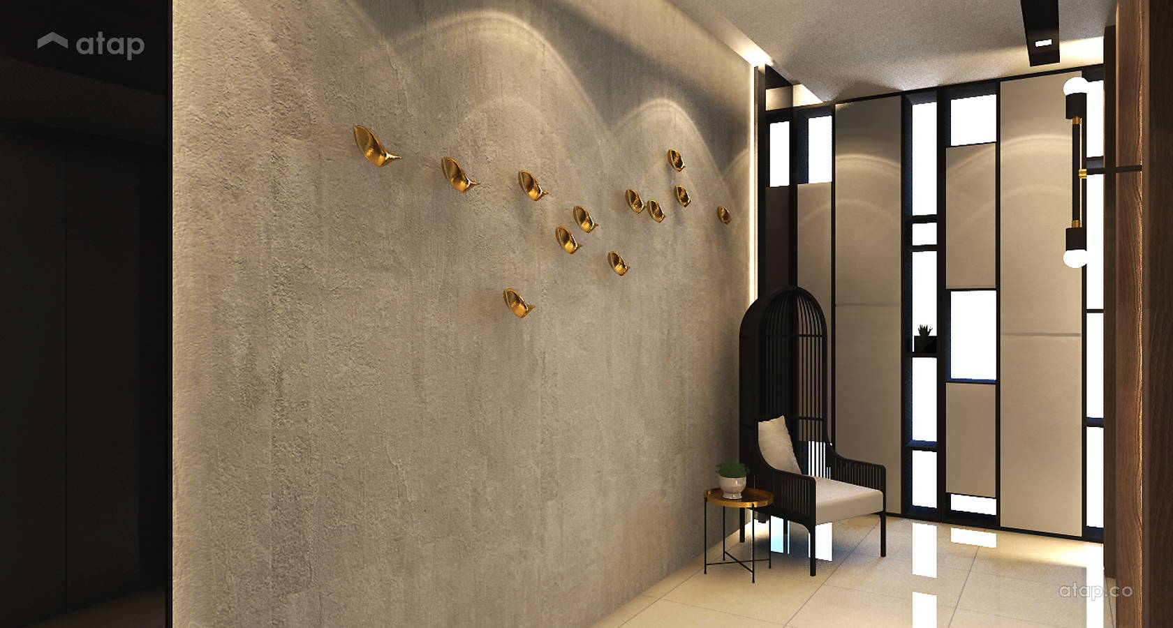 Contemporary Modern Foyer @ KM1 East