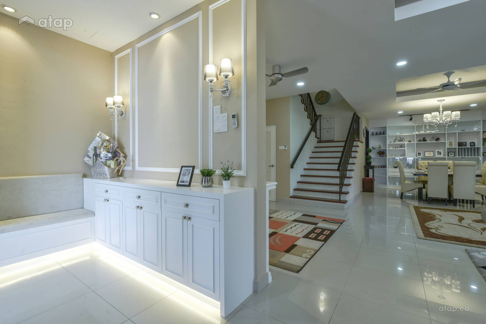 Classic Scandinavian Dining Room Foyer @ Alam Impian Residence