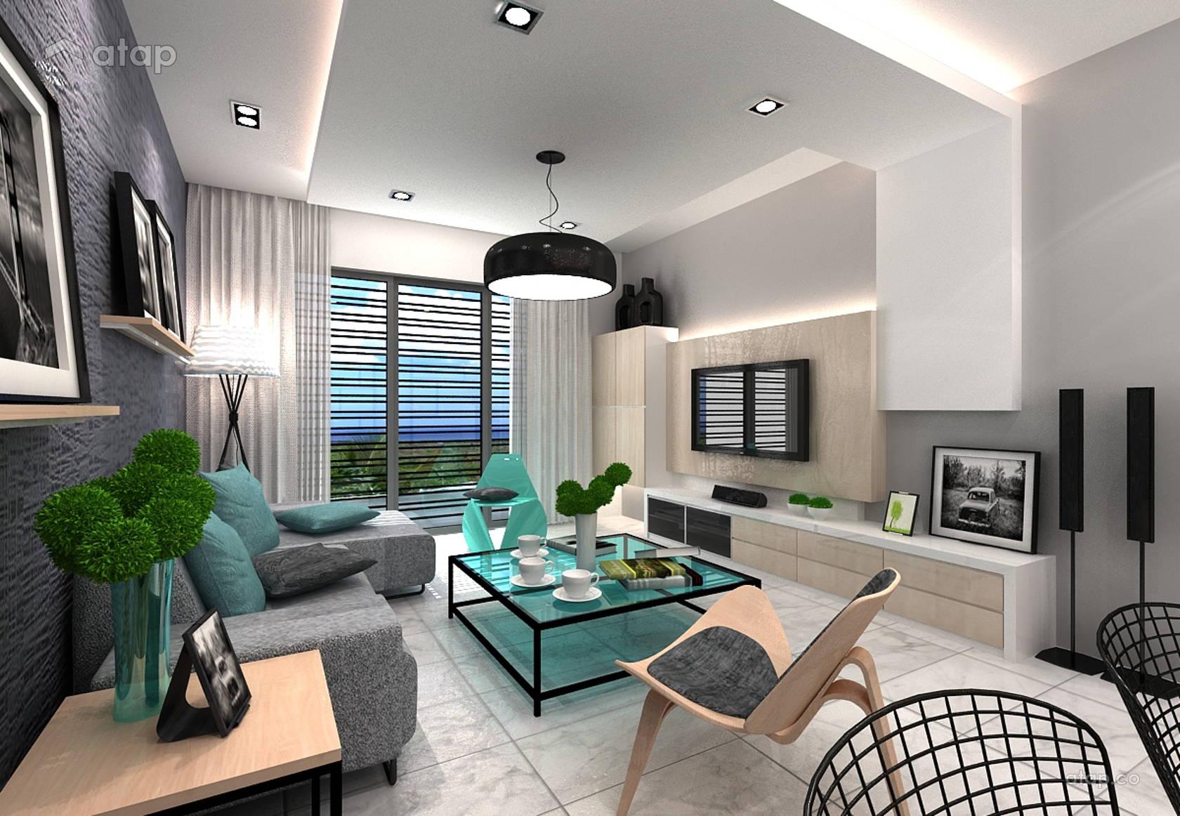 Living Room Modern Small Apartment Interior Design Novocom Top