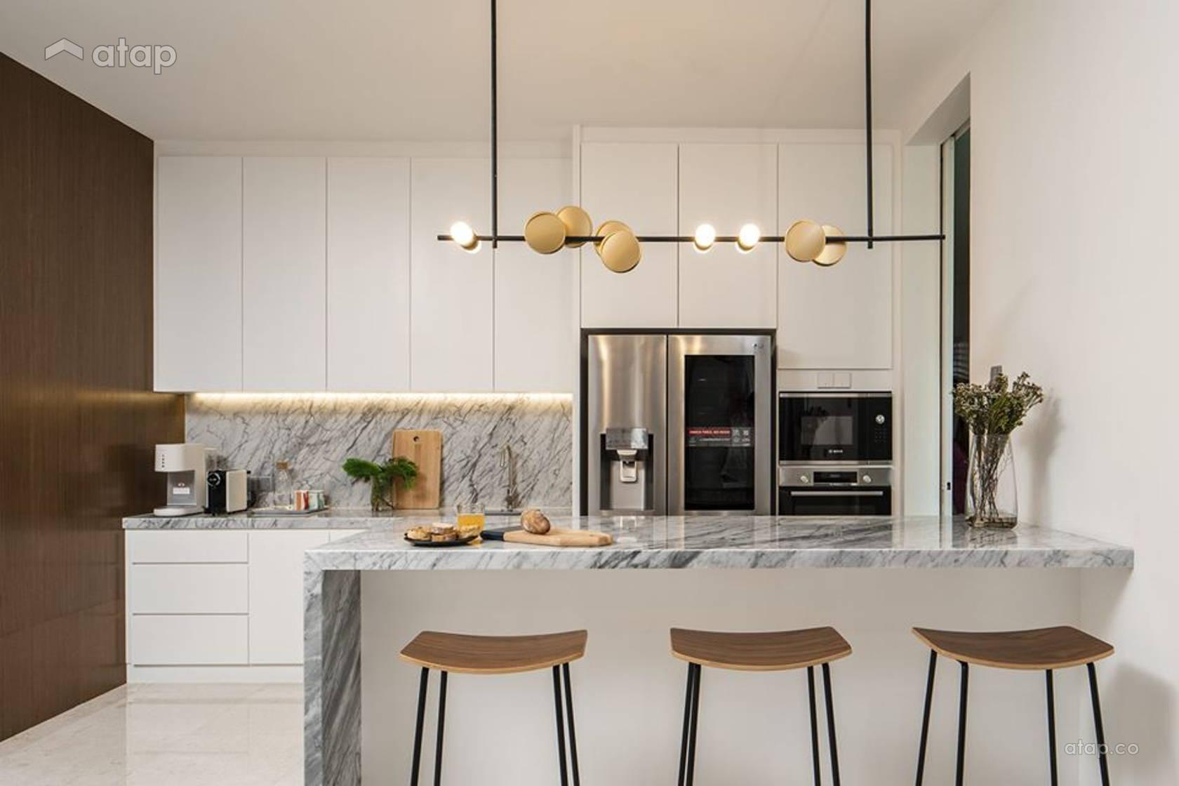 Contemporary Scandinavian Kitchen Bungalow Design Ideas Photos Malaysia Atap Co