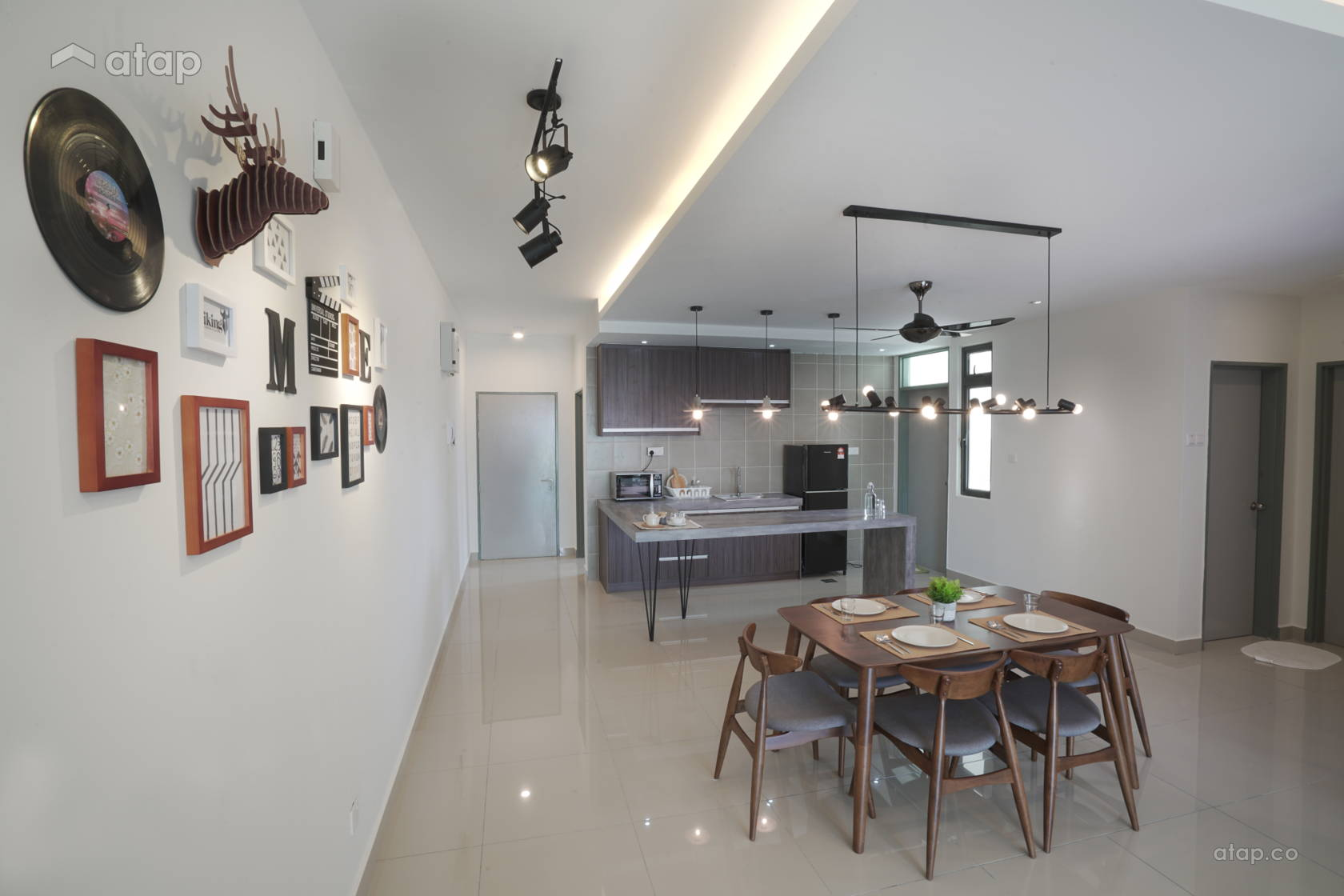 Scandinavian Dining Room Kitchen @ Sri KL palace condo