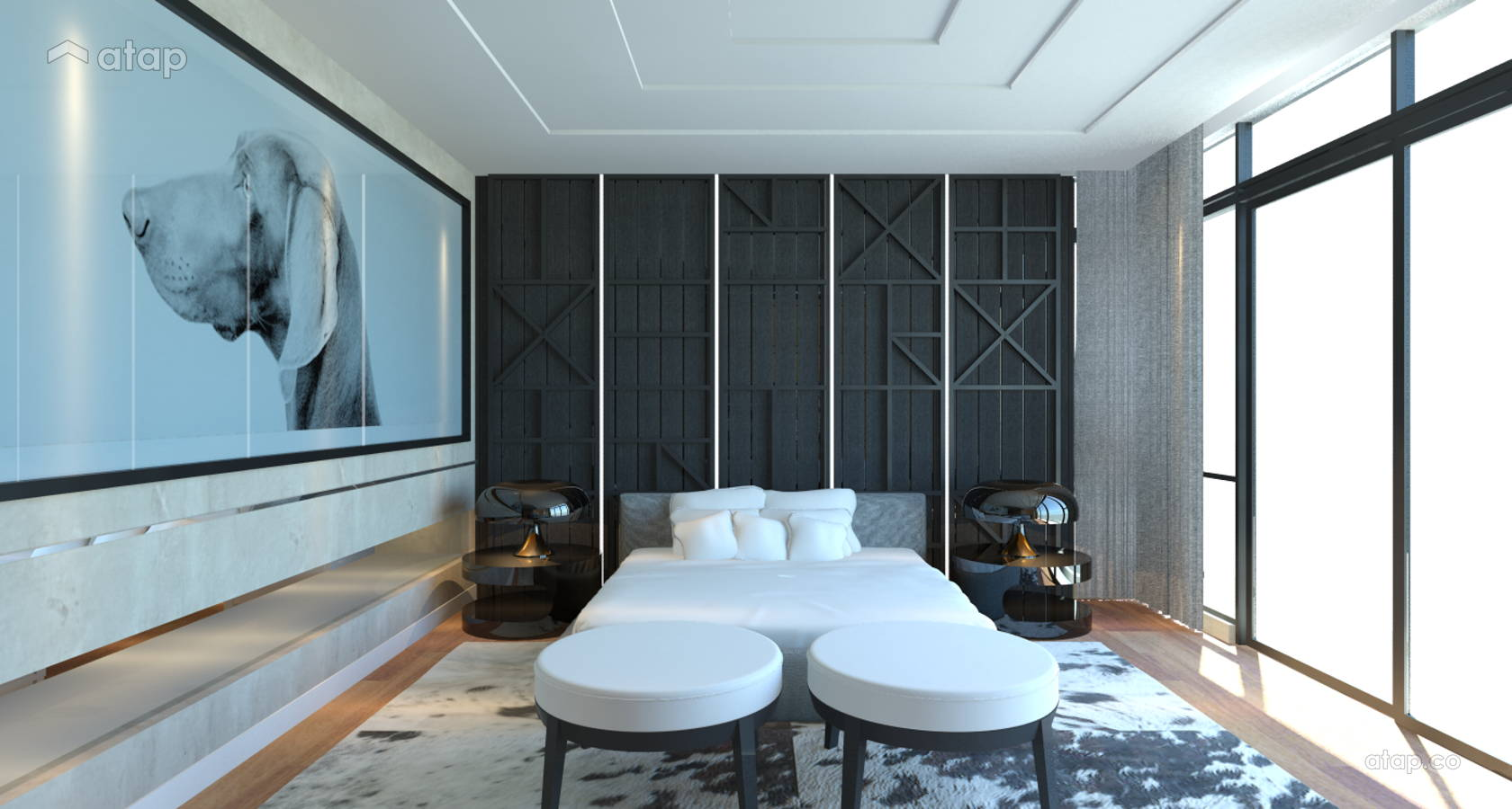 Contemporary Modern Bedroom @ Grove, Lakefields