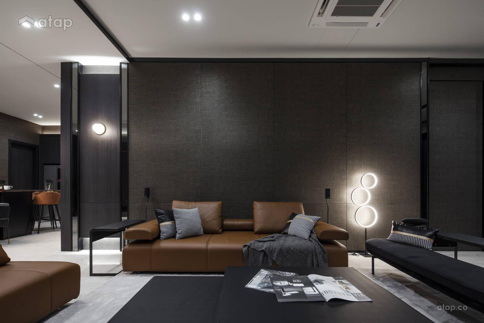 Contemporary Modern Living Room @ Anjali North Kiara