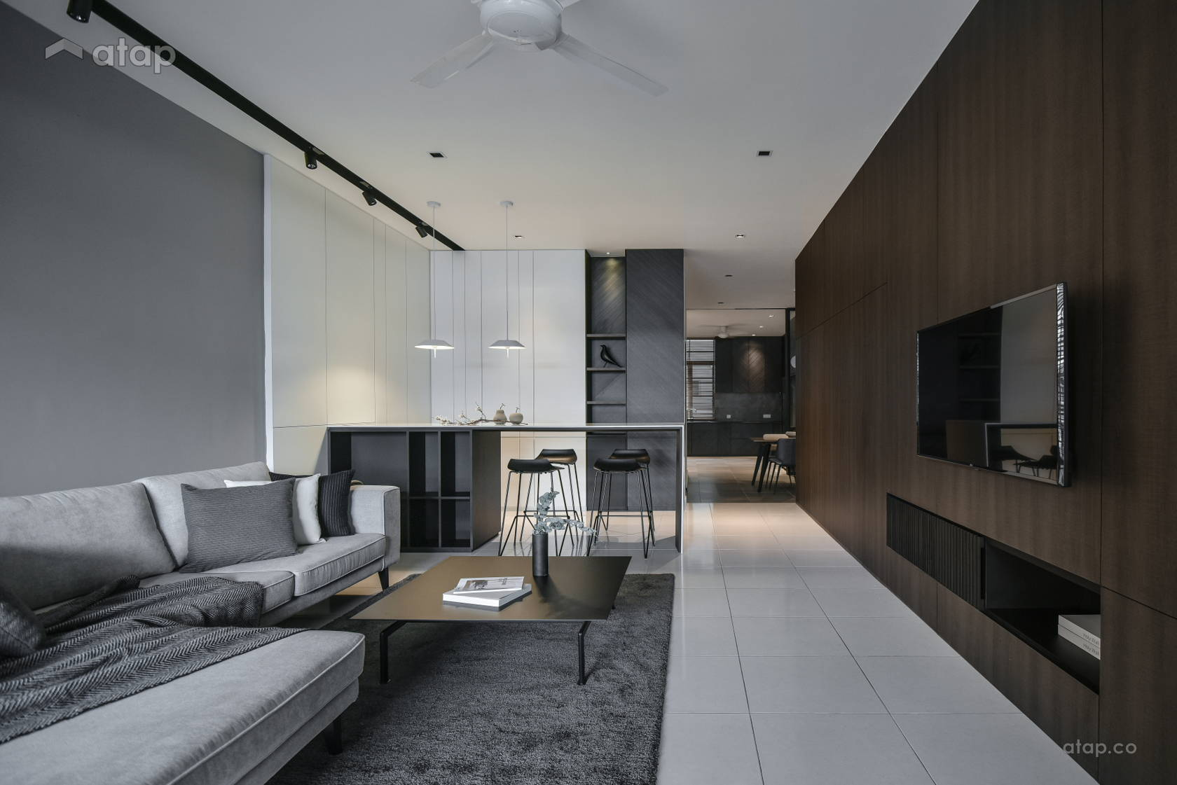 Dark Brightness Double Storey Terrace At Klang Interior Design