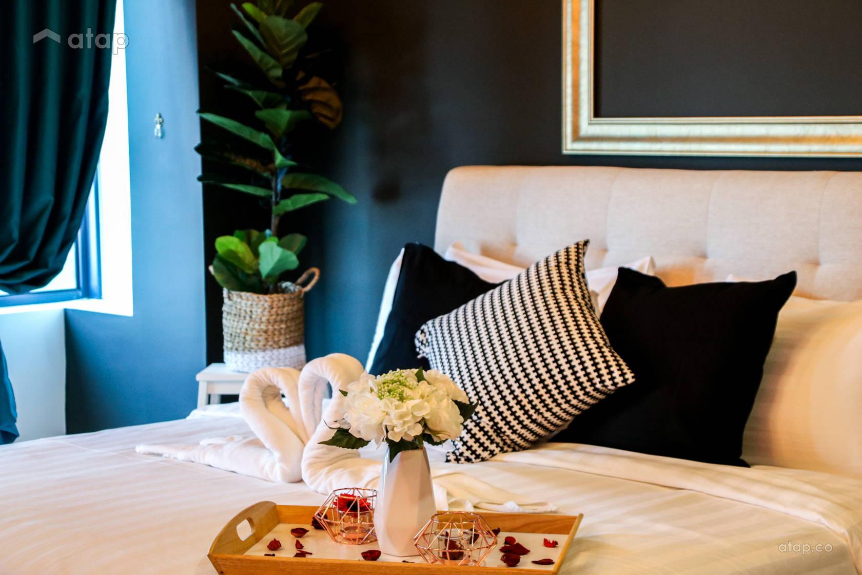 Contemporary Retro Bedroom Condominium Design Ideas