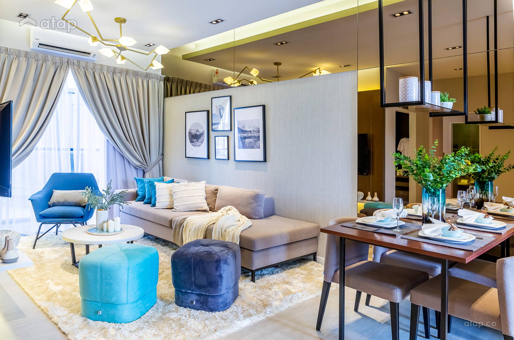 Contemporary Modern Family Room Living Room @ Sunsuria Forum