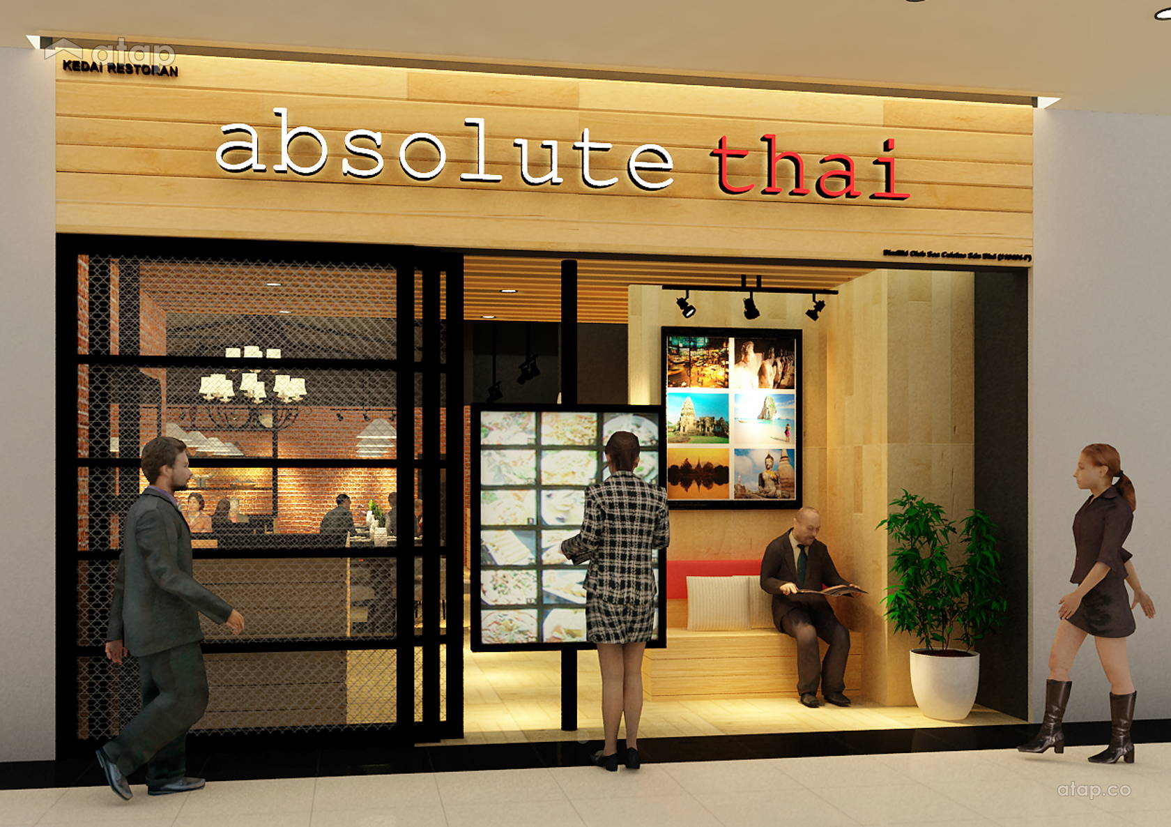 Best thai restaurant interior design ideas photos for Thai decorations ideas