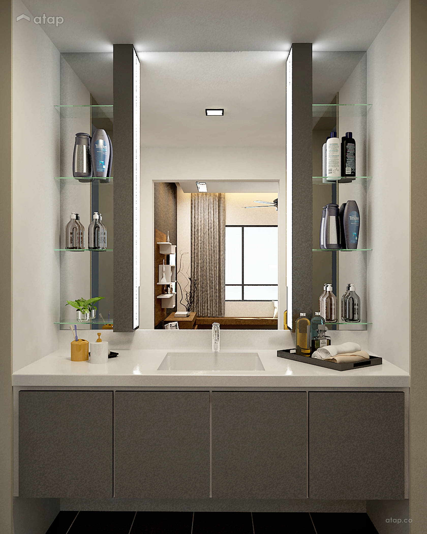 . Minimalistic Modern Bathroom condominium design ideas   photos