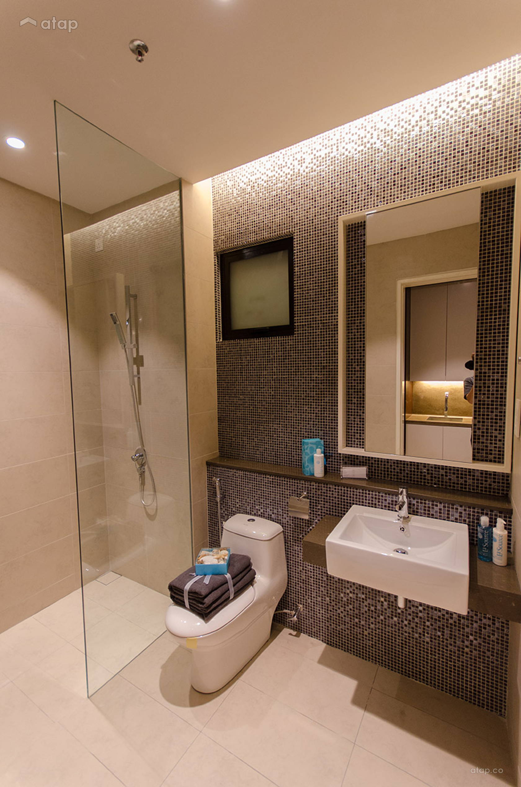 Contemporary Modern Bathroom Condominium Design Ideas Photos Malaysia