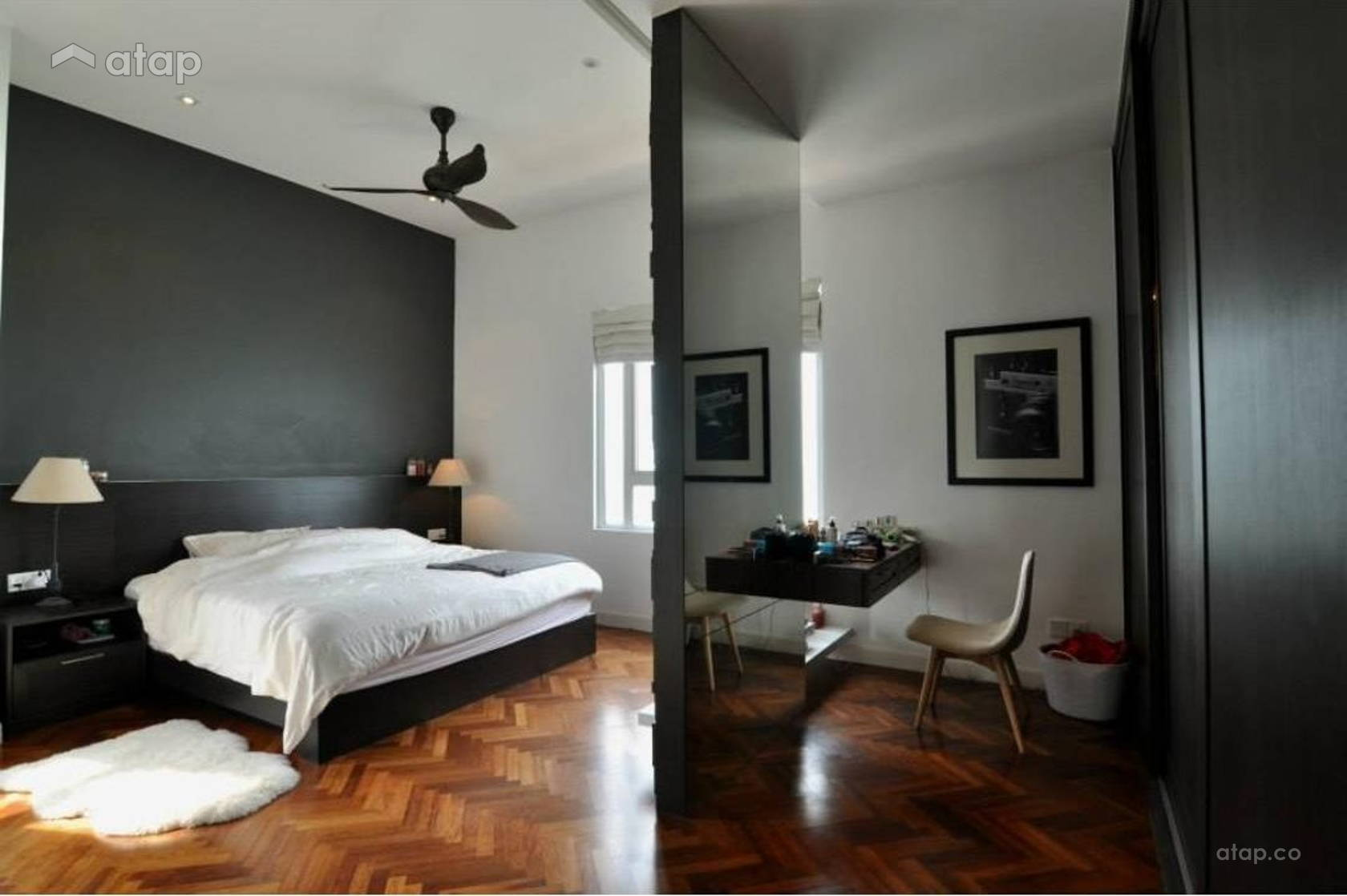 Contemporary Modern Bedroom @ Quayside Condominium Type A