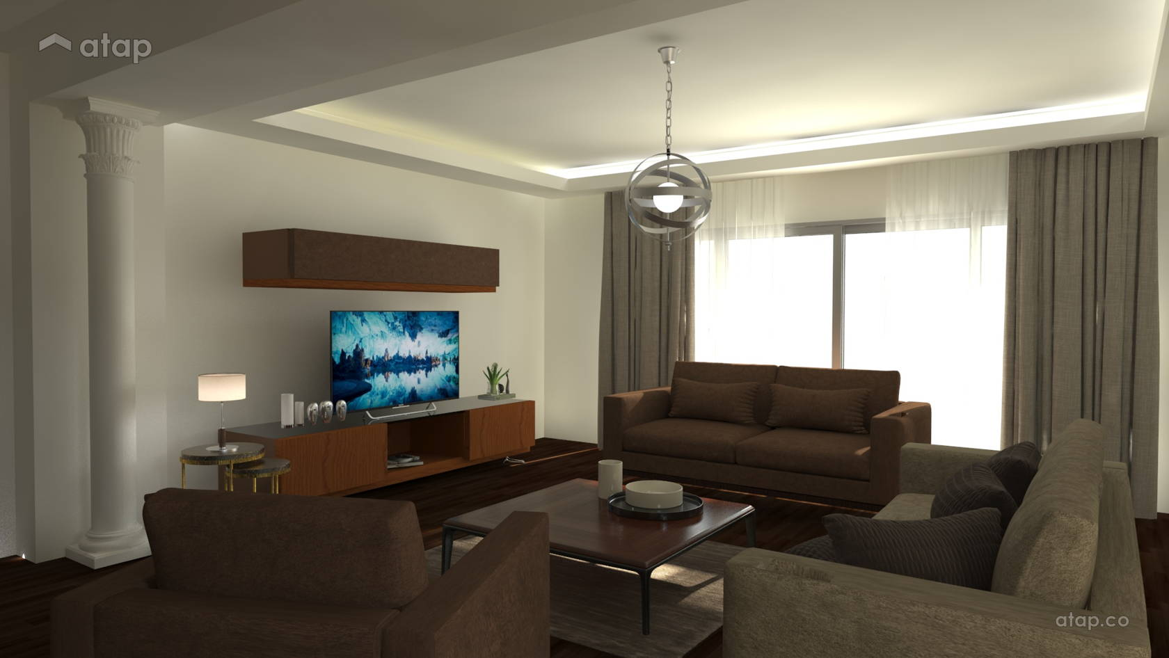 Classic Modern Living Room Apartment Design Ideas Photos Malaysia Atap Co