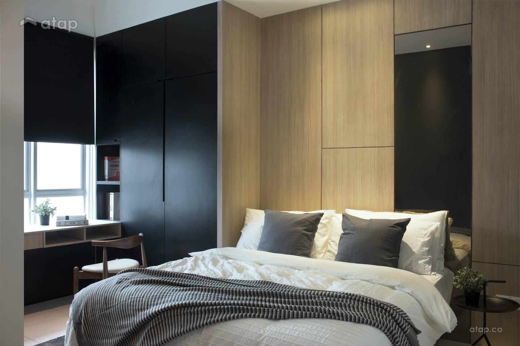 Contemporary Bedroom @ Bold & Bloom- Condo at Saujana Putra