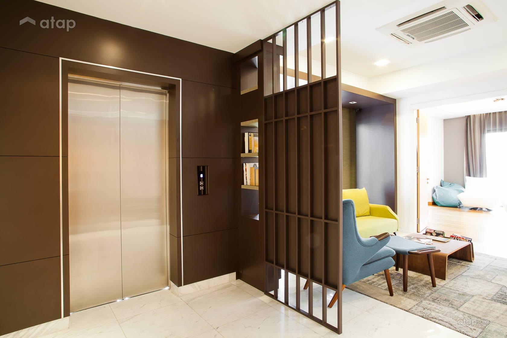 Mont Kiara Semi Contemporary Scandinavian Foyer Detached Design Ideas Photos Malaysia Atap Co
