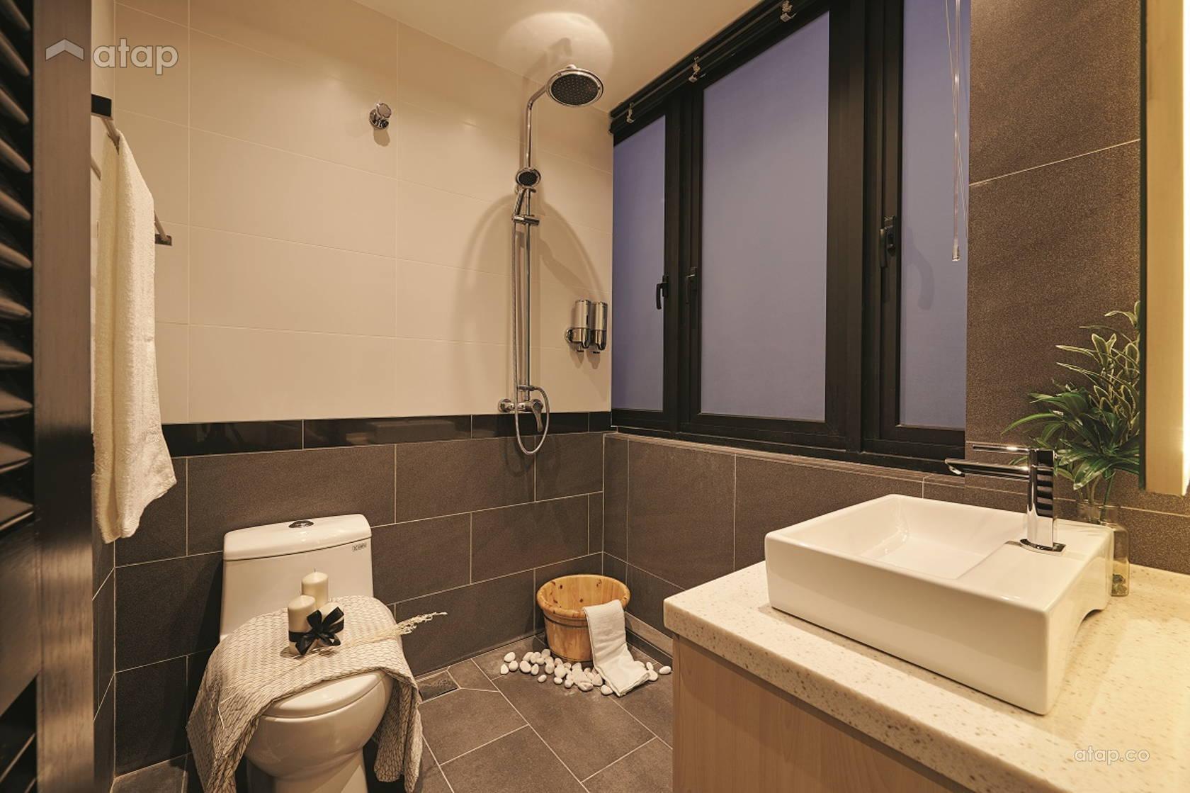 Contemporary Modern Bathroom @ No.12 Residence