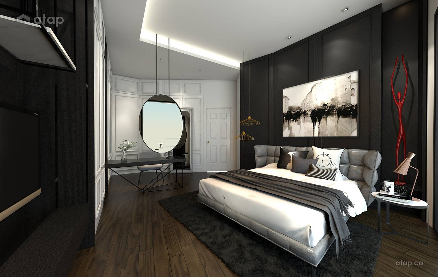 Classic Modern Bedroom Study Room @ O2 city Type D1 Showroom- Condo at Puchong South, Selangor