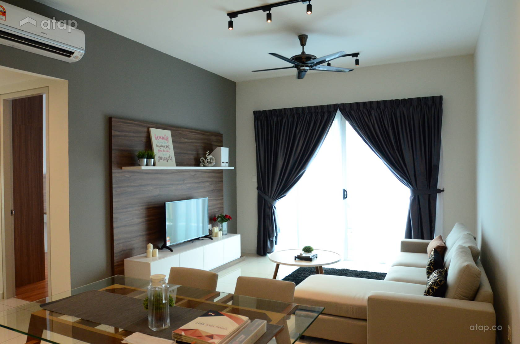 Country Modern Living Room @ Sunway Geo Residence