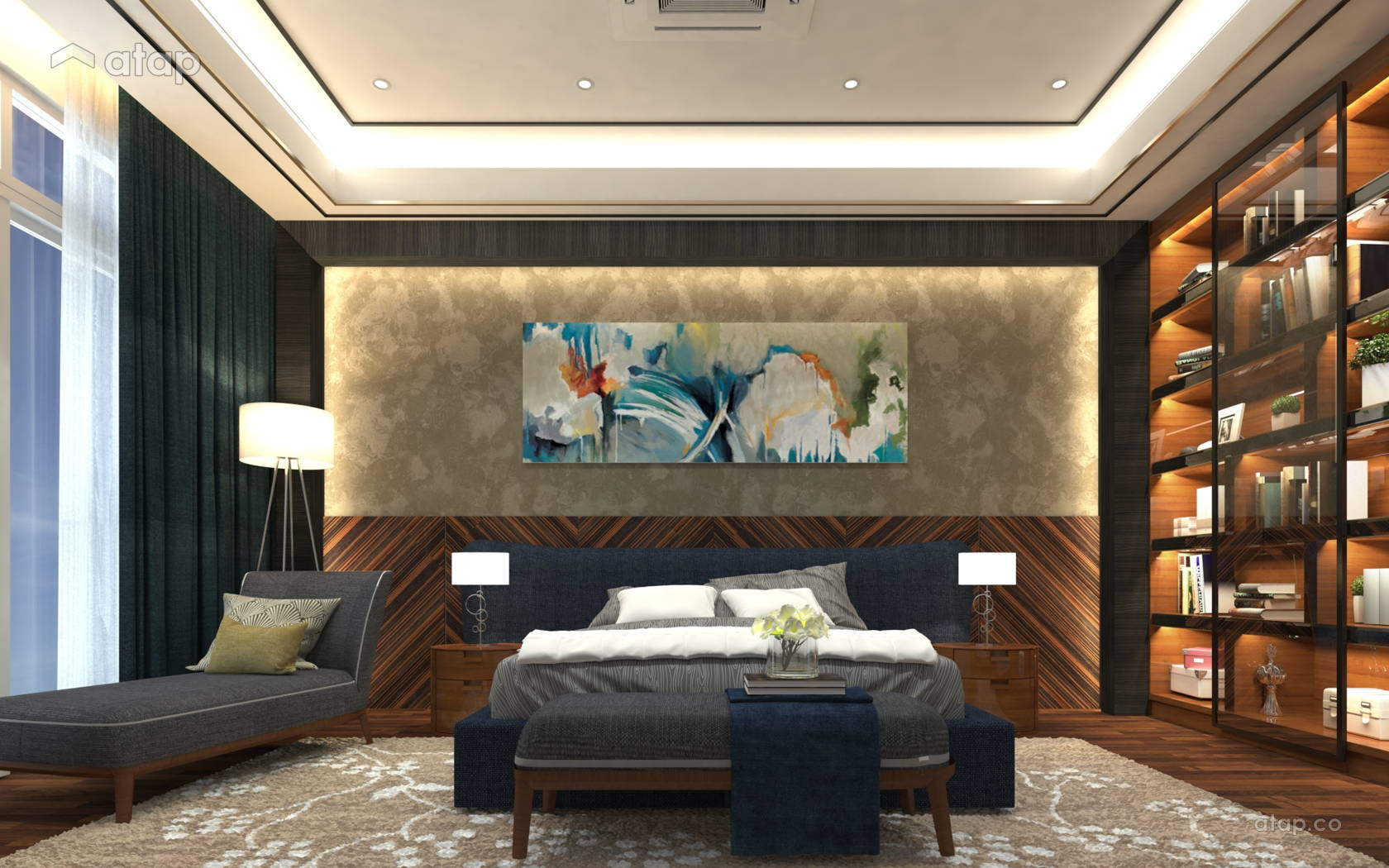 Classic Modern Bedroom @ The Rafflesia