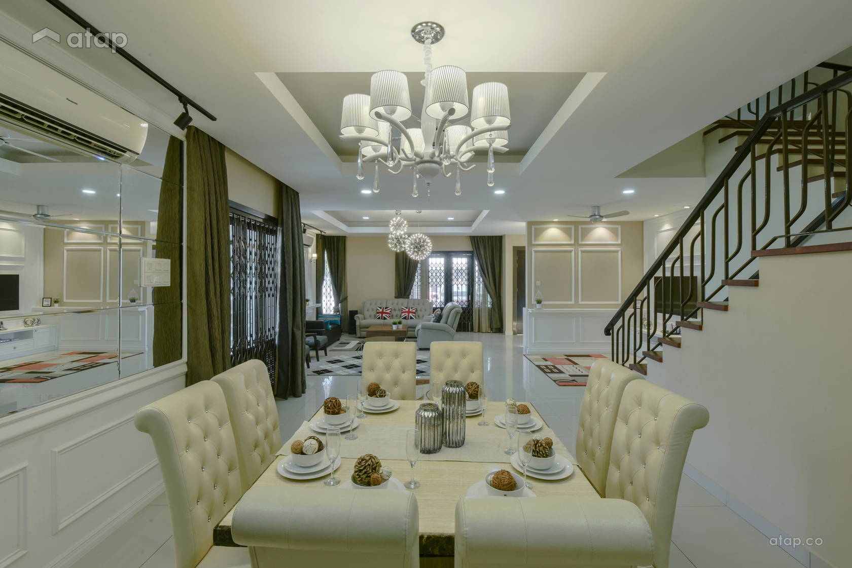 Classic Vintage Dining Room Living Room @ Alam Impian Residence