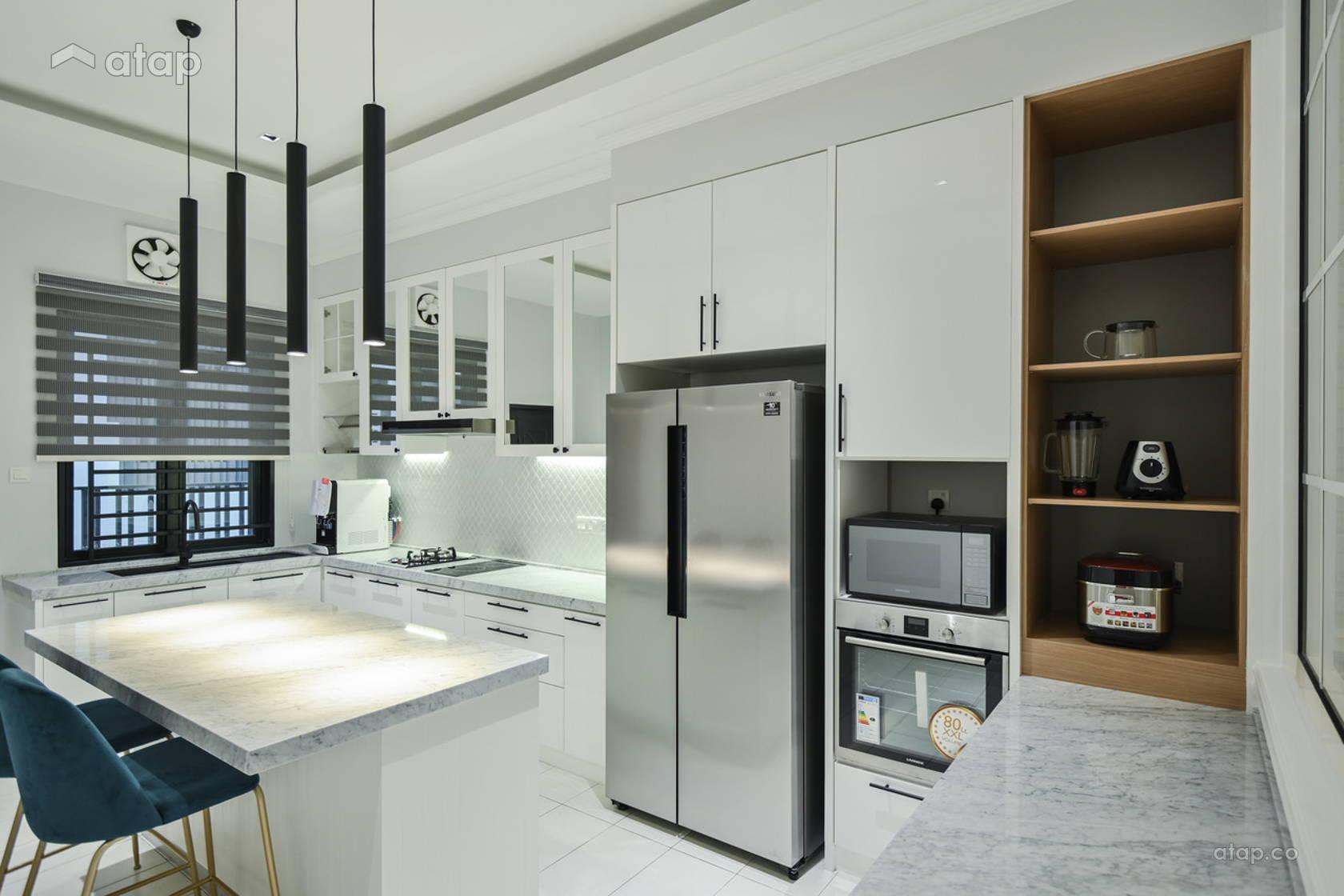 contemporary modern kitchen terrace design ideas  photos