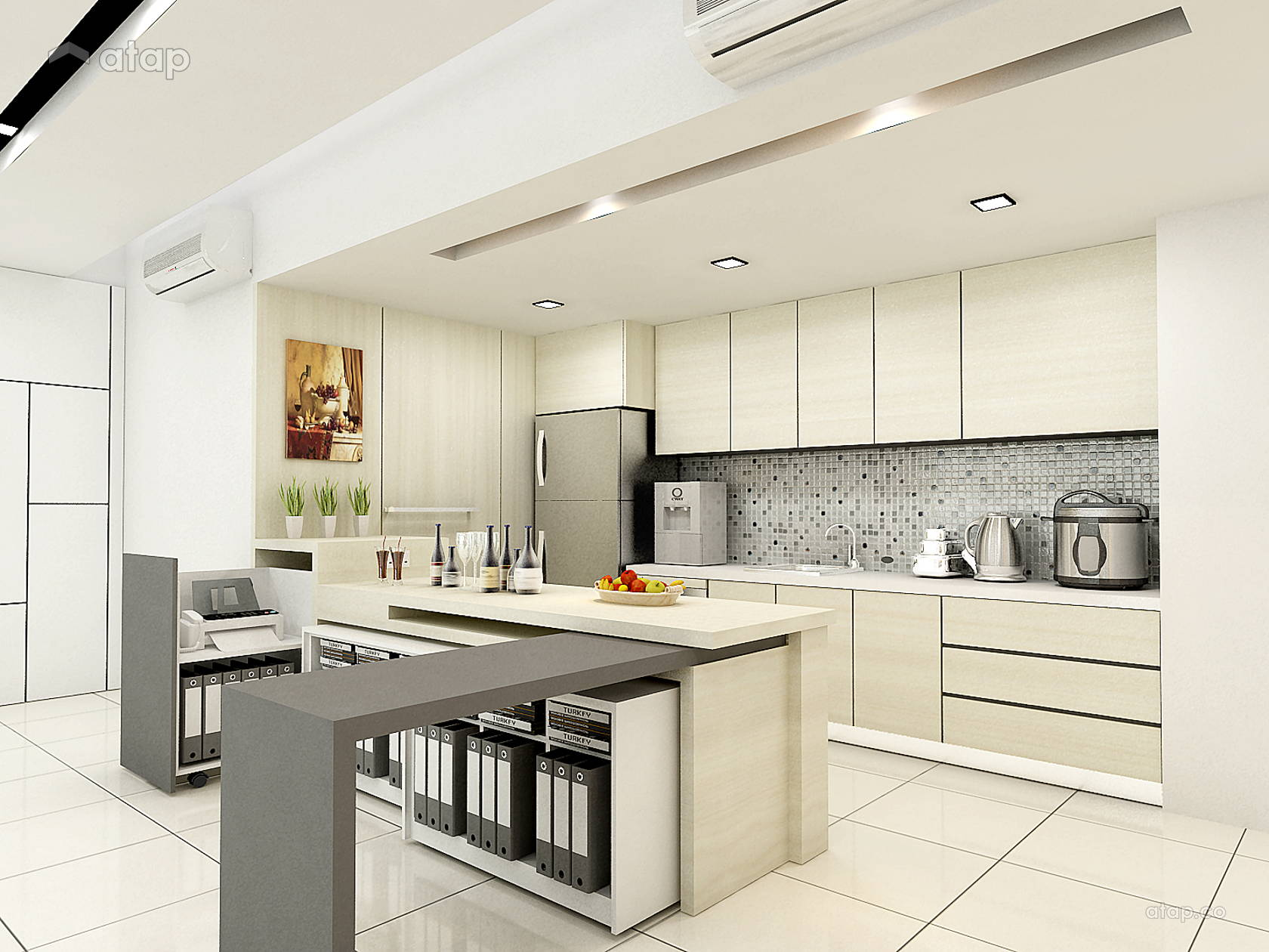 Contemporary Modern Kitchen @ Windows On The Park Condo