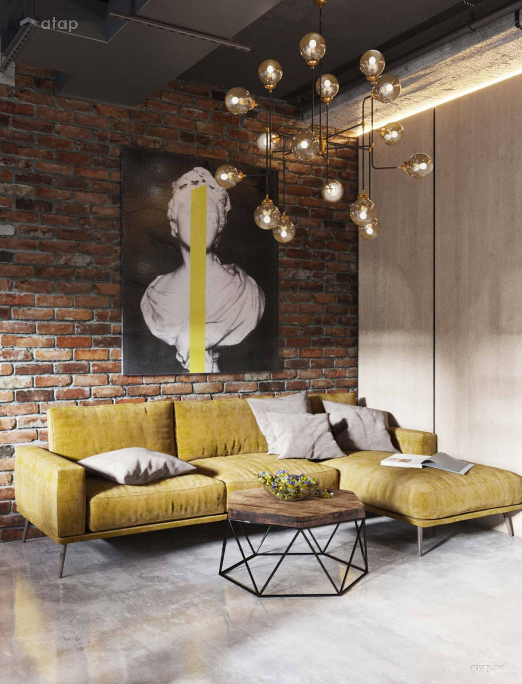 Industrial Living Room @ Concept Interior Design