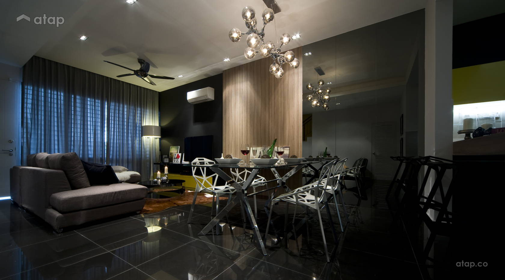 Industrial Modern Dining Room Living Room @ Petunia 59