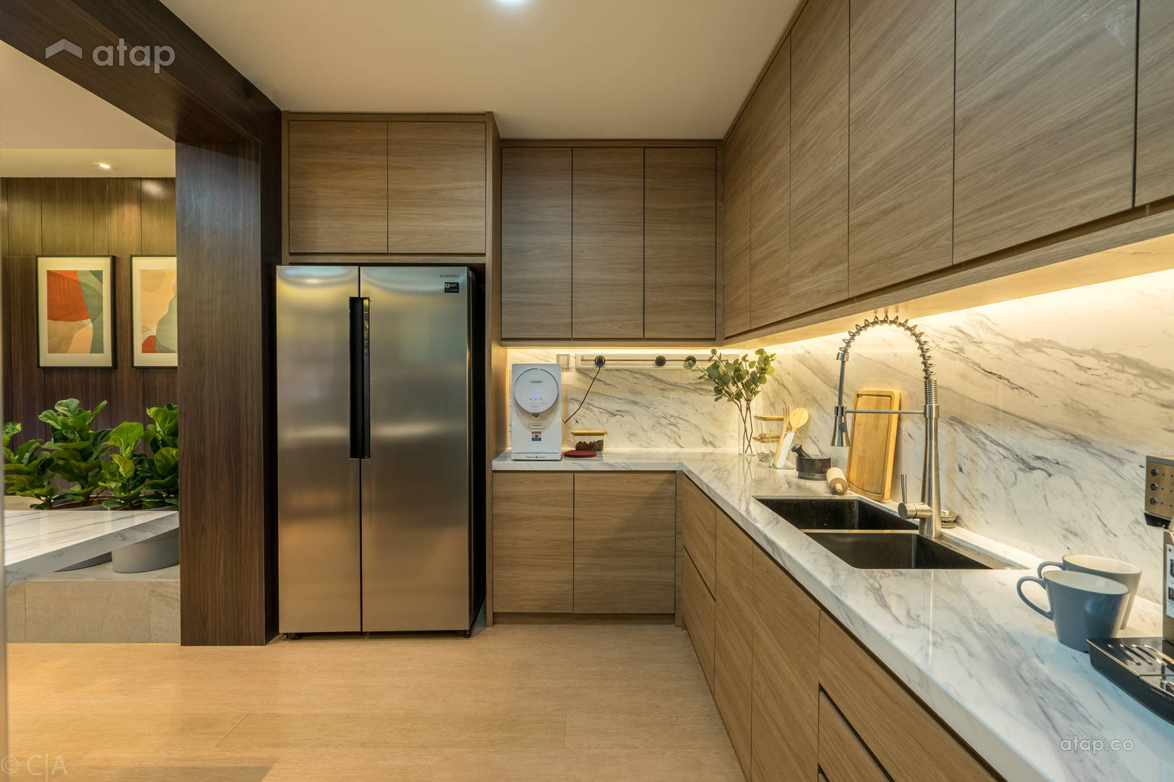 Contemporary Kitchen @ Posh &  Polished : State-Of-The-Art Residence