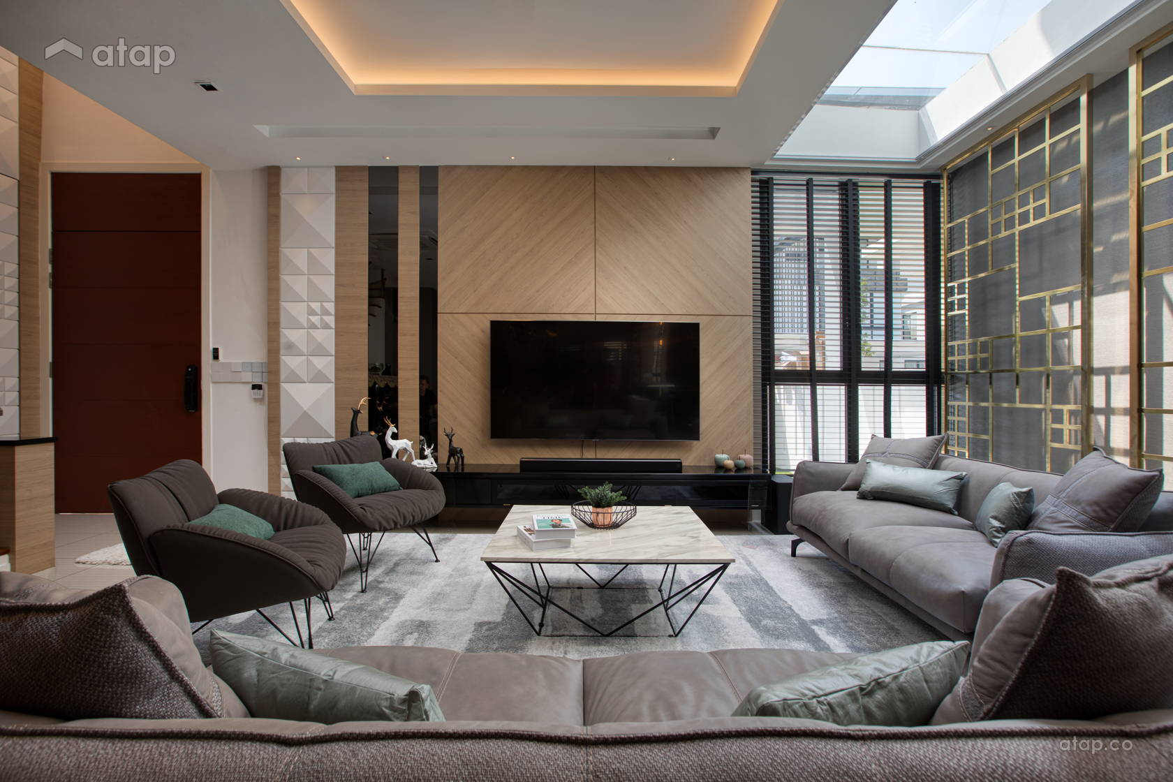 Contemporary Modern Living Room @ Sierra 6 Puchong