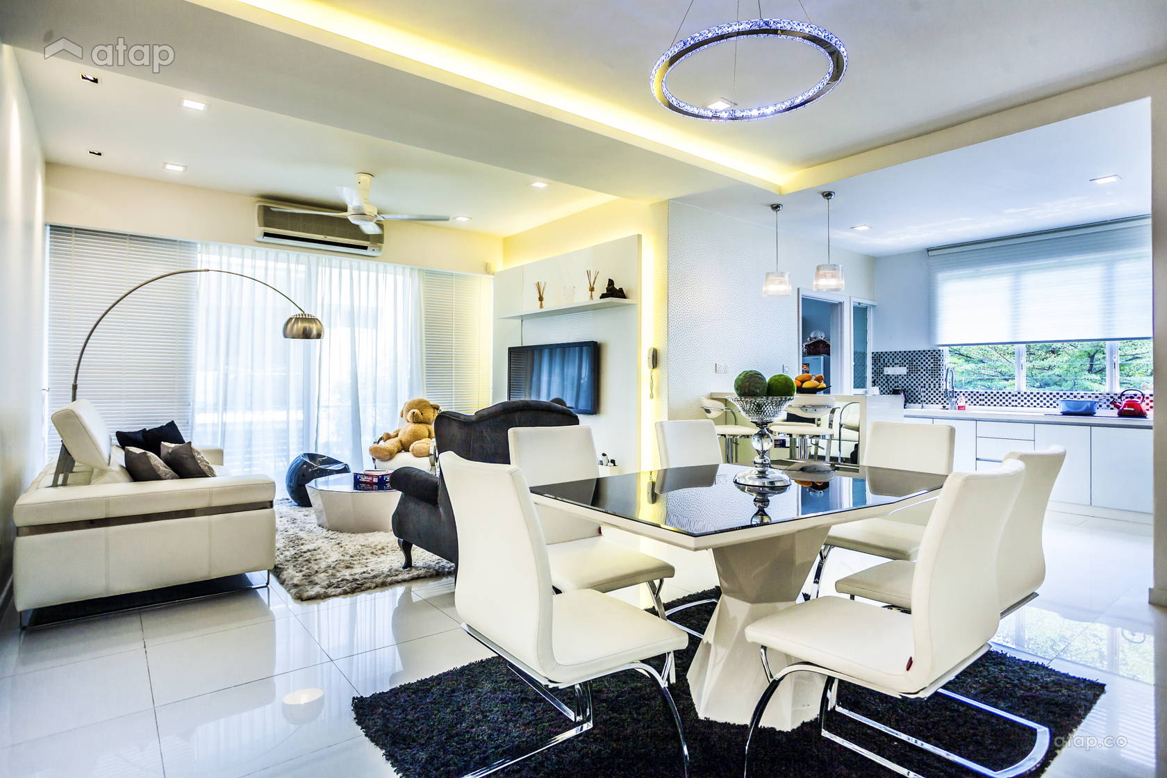 Modern Dining Room Kitchen Townhouse Share This Professional