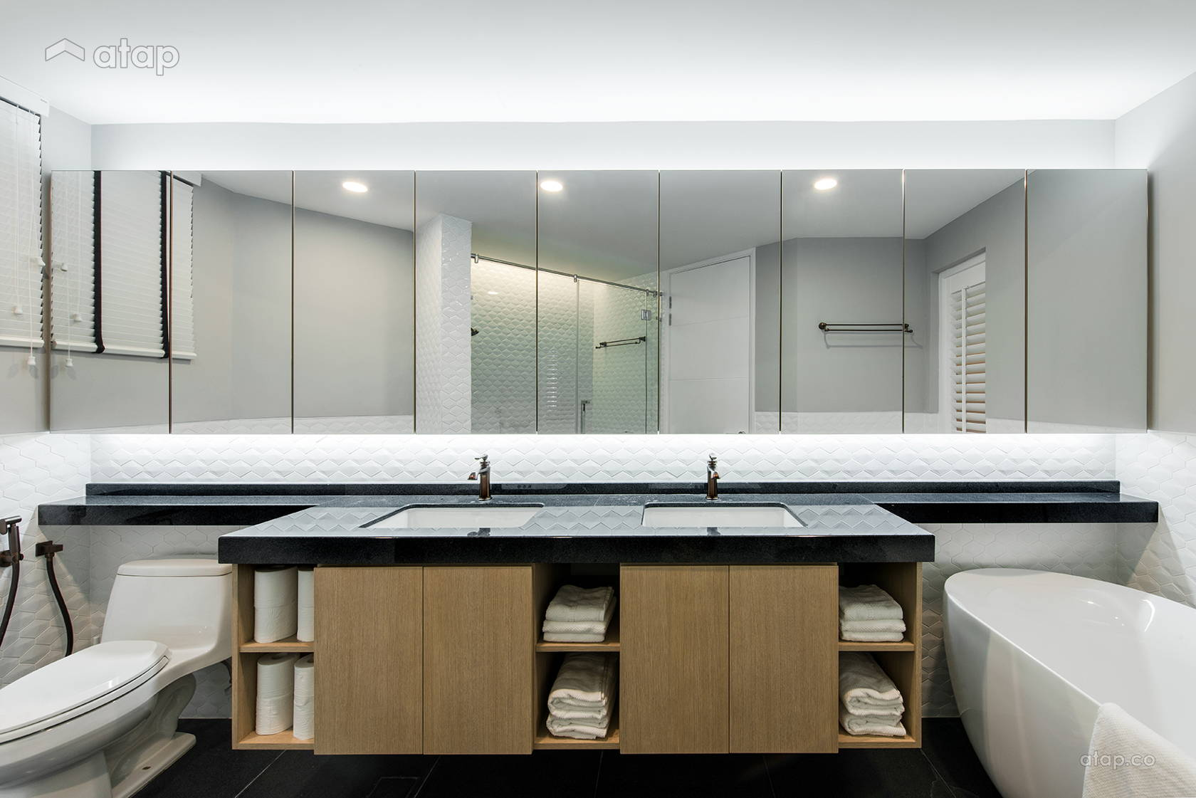 Minimalistic Scandinavian Bathroom @ Araville