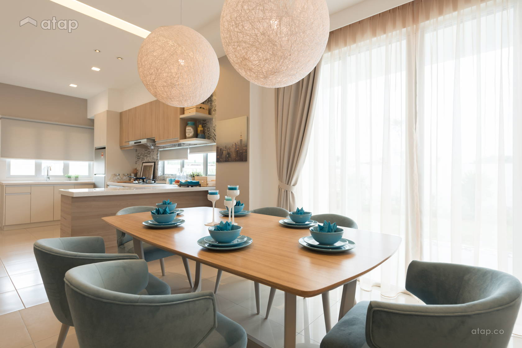 Modern Scandinavian Dining Room @ Acacia 3B Show Unit for Lowyat Group