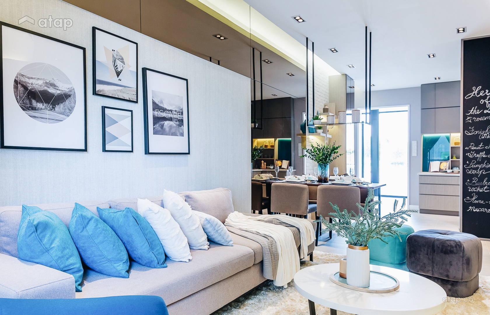 Scandinavian Zen Family Room Living Room @ Sunsuria Forum