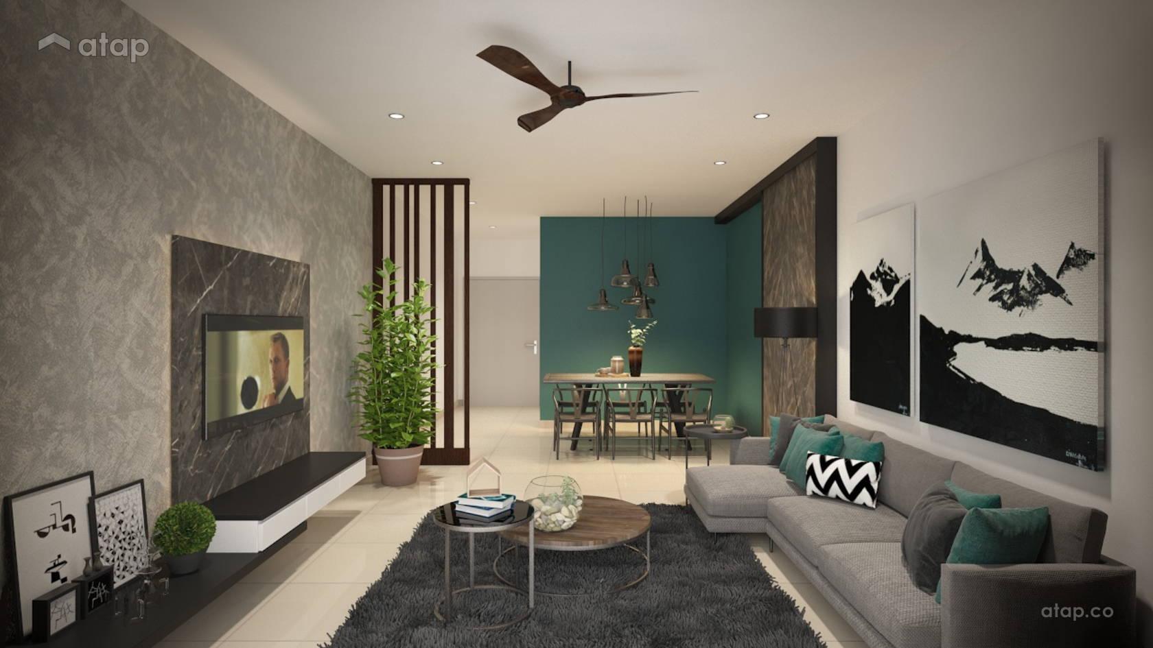Contemporary Scandinavian Dining Room Living Room @ Kong Residence - Bandar Tasik Selatan
