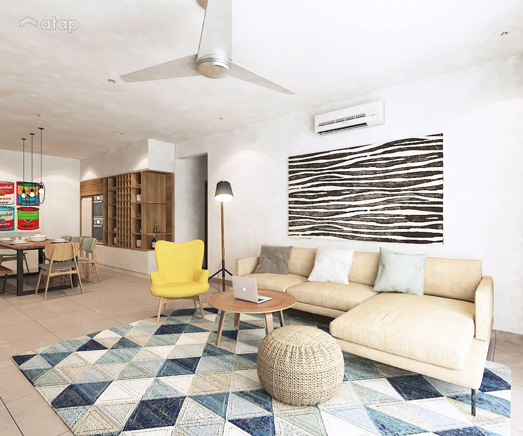Scandinavian Zen Dining Room Living Room @ Villa Crystal II