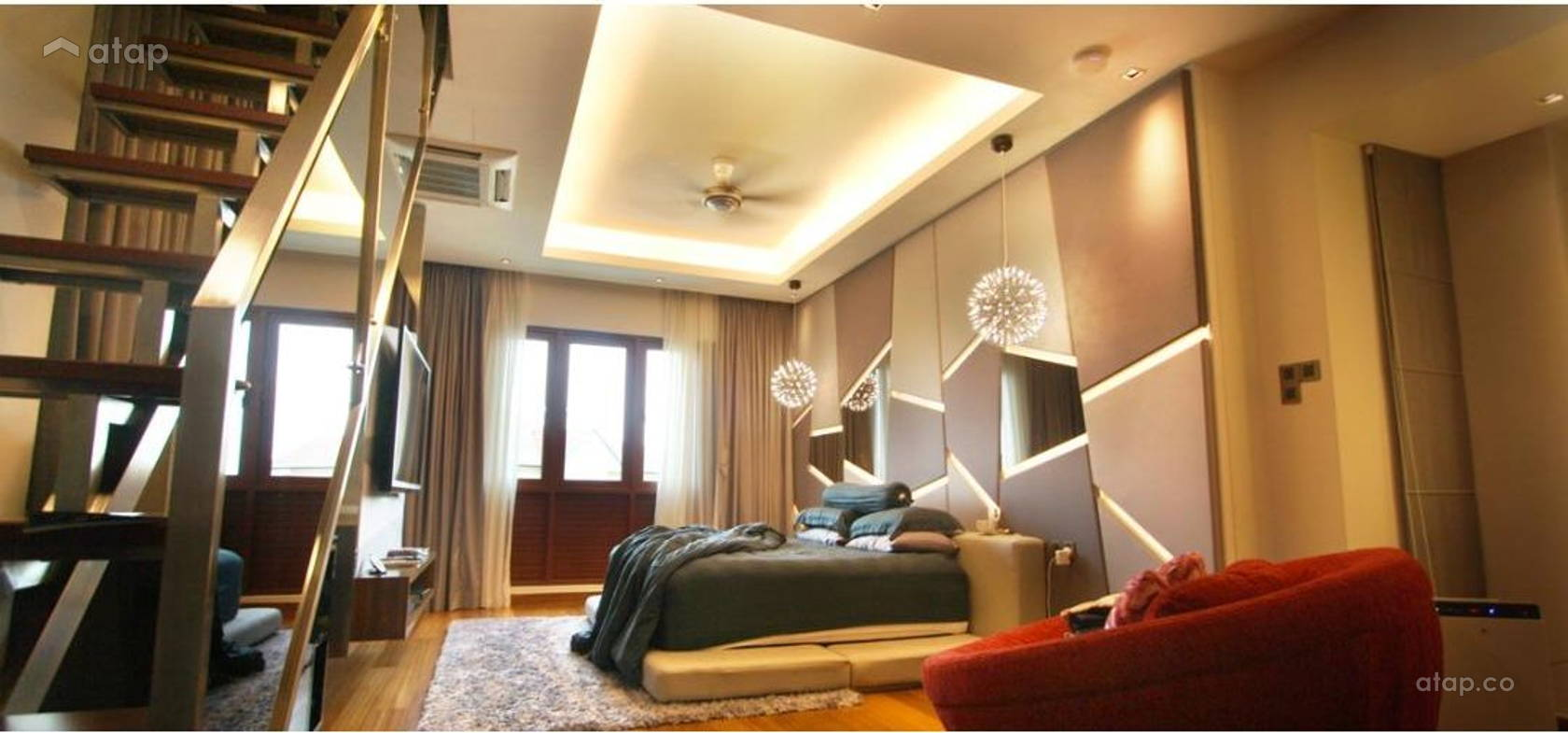 Contemporary Modern Bedroom @ Telawi Bangsar Residence