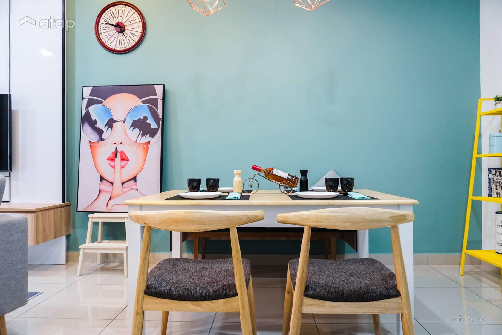 Contemporary Scandinavian Dining Room @ D'Summit Residences | Kempas Utama | Johor Bahru | Malaysia