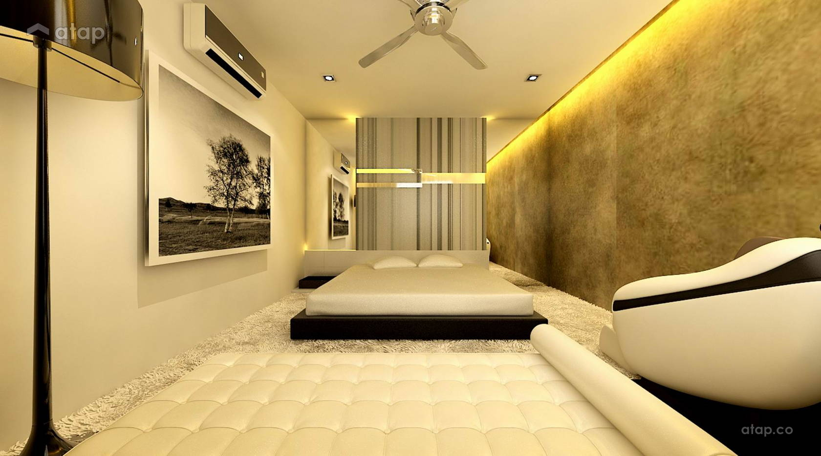Contemporary Modern Bedroom @ Kinrara Residences