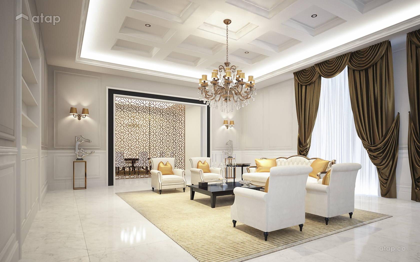 Classic living room bungalow design ideas photos for Living room design johor bahru