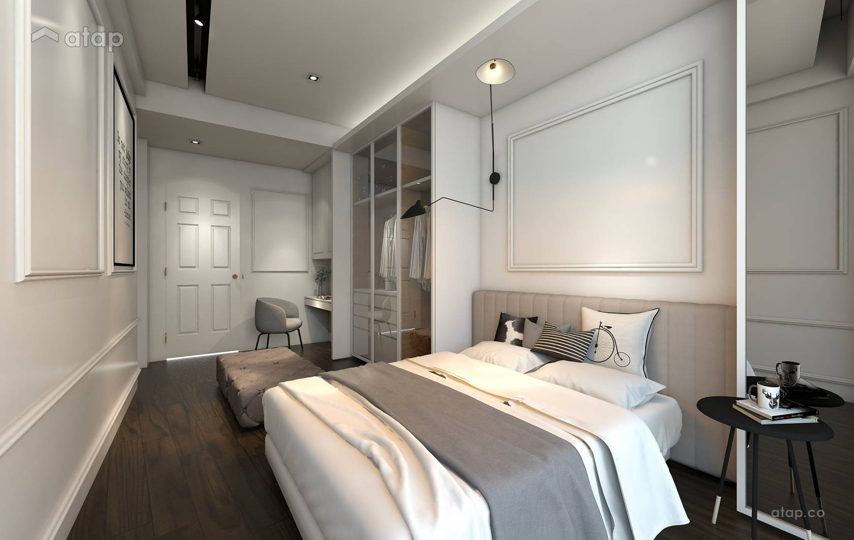 Classic Modern Bedroom @ O2 city Type D1 Showroom- Condo at Puchong South, Selangor