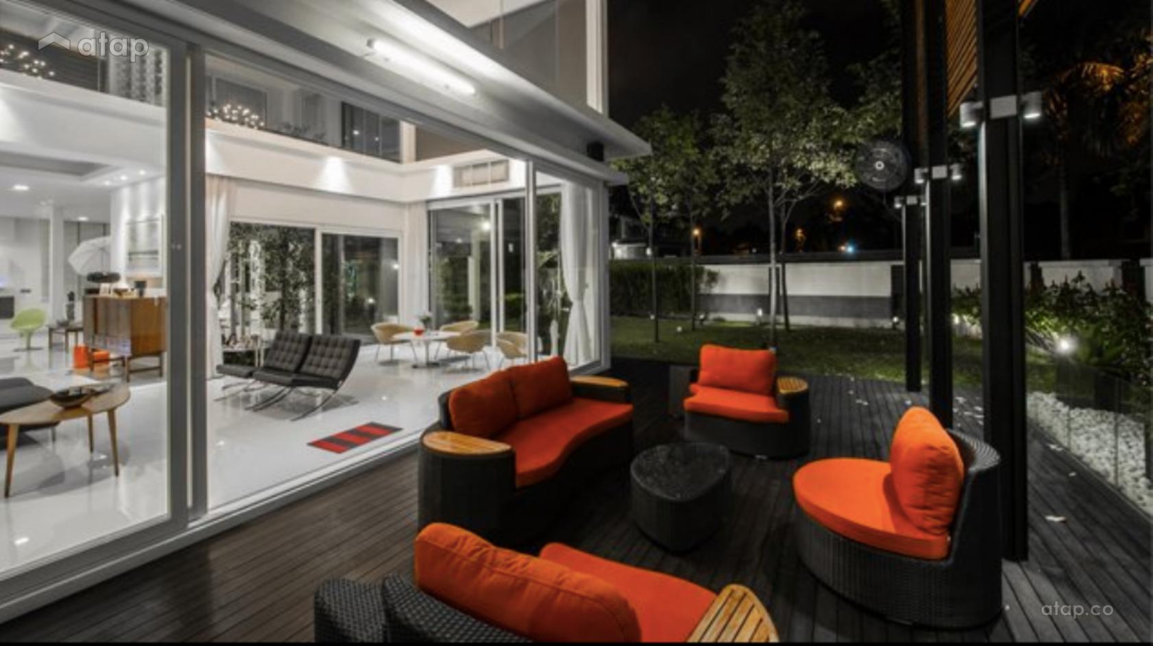 ontemporary Modern Garden semi-detached design ideas & photos ... - ^