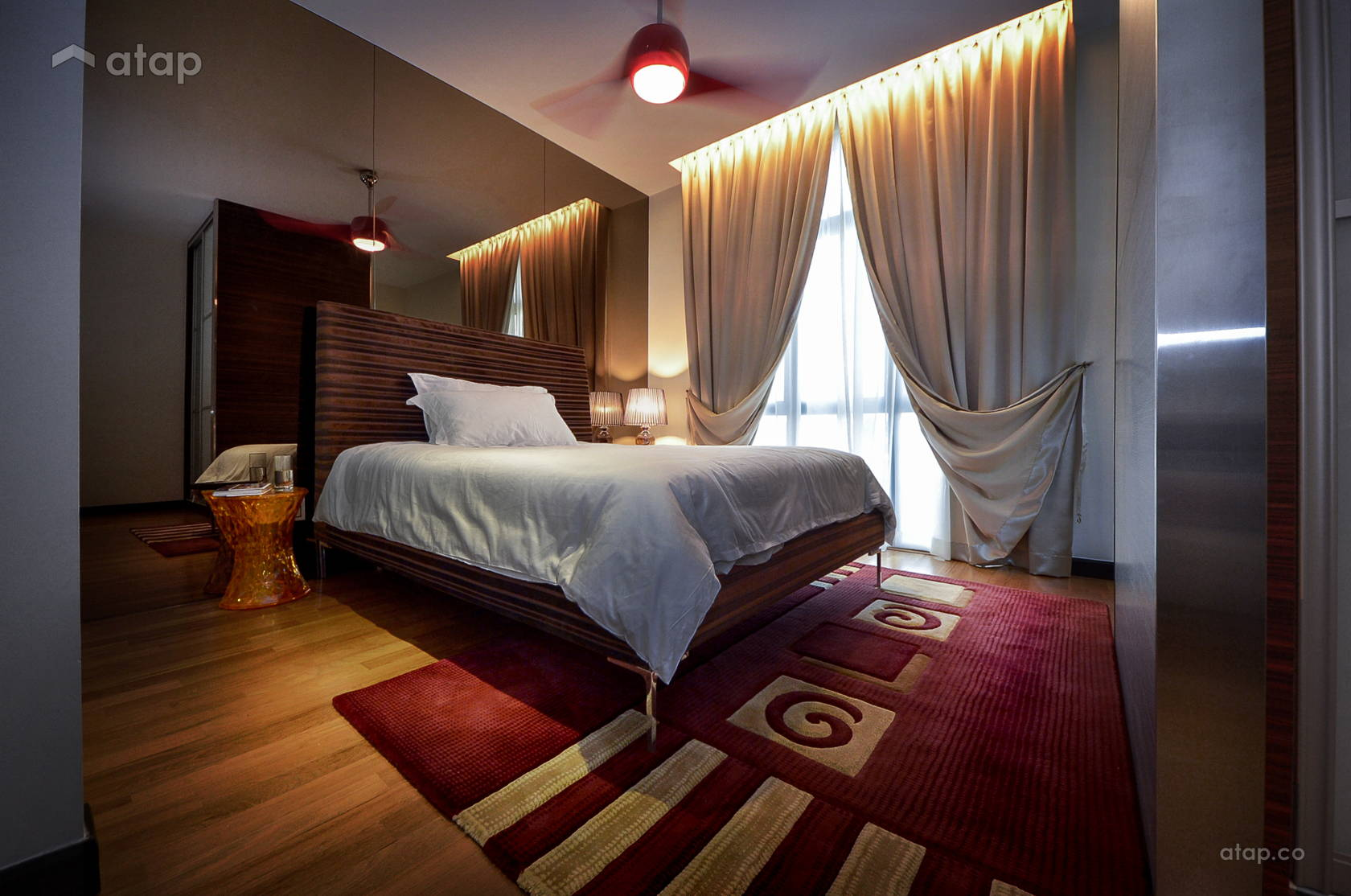 Asian Contemporary Bedroom @ The Straits View Residences