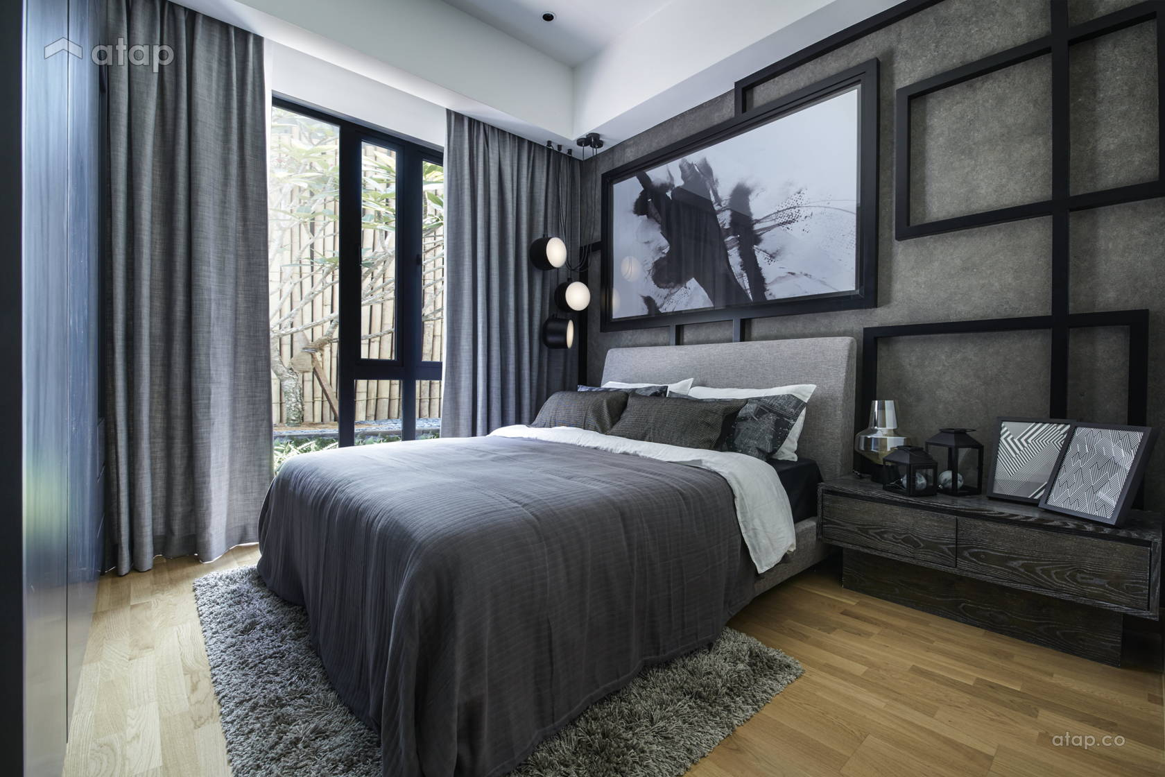 Contemporary Rustic Bedroom @ Sentral Suites Type B