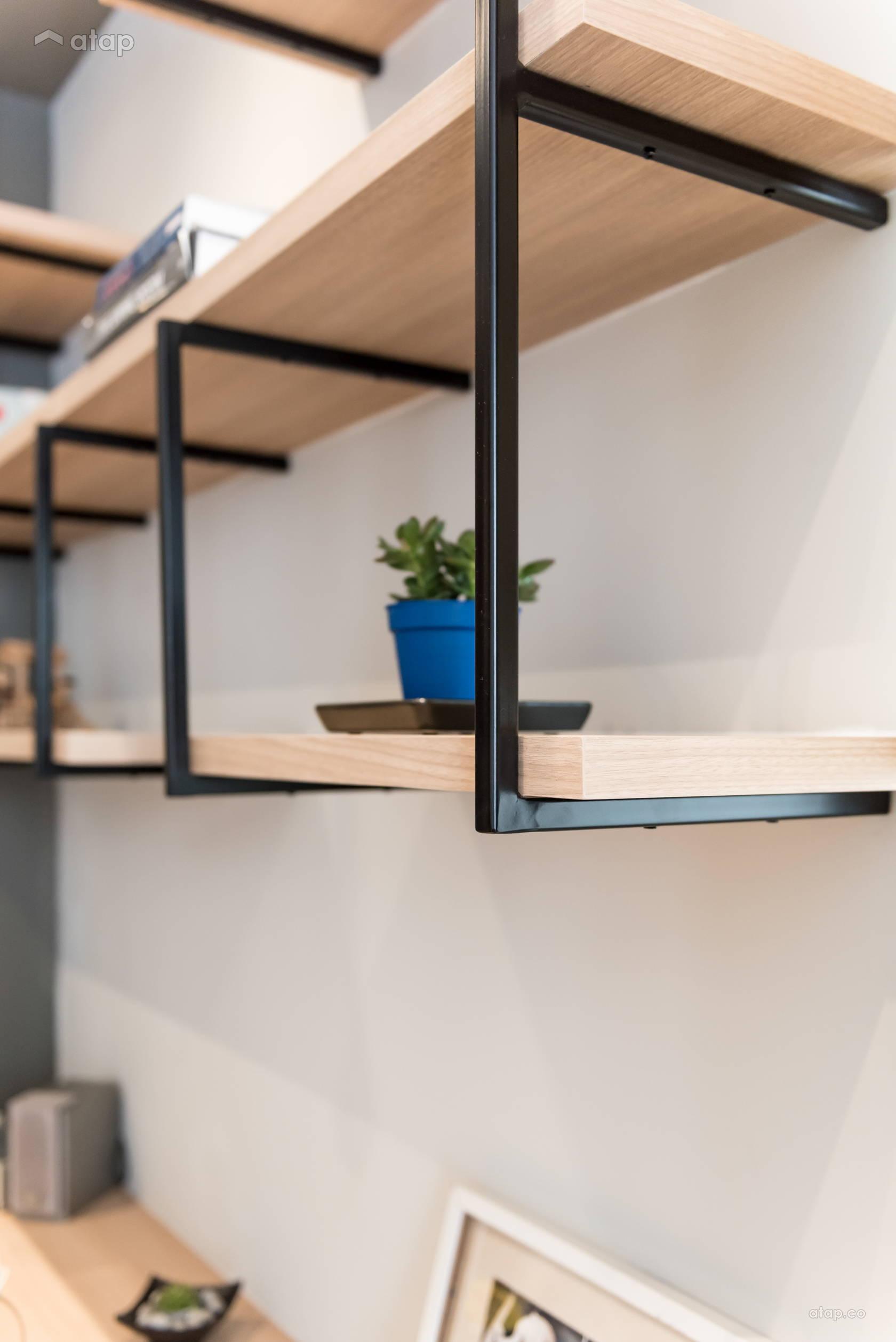 Condominium Study Room: Asian Contemporary Bedroom Study Room Condominium Design