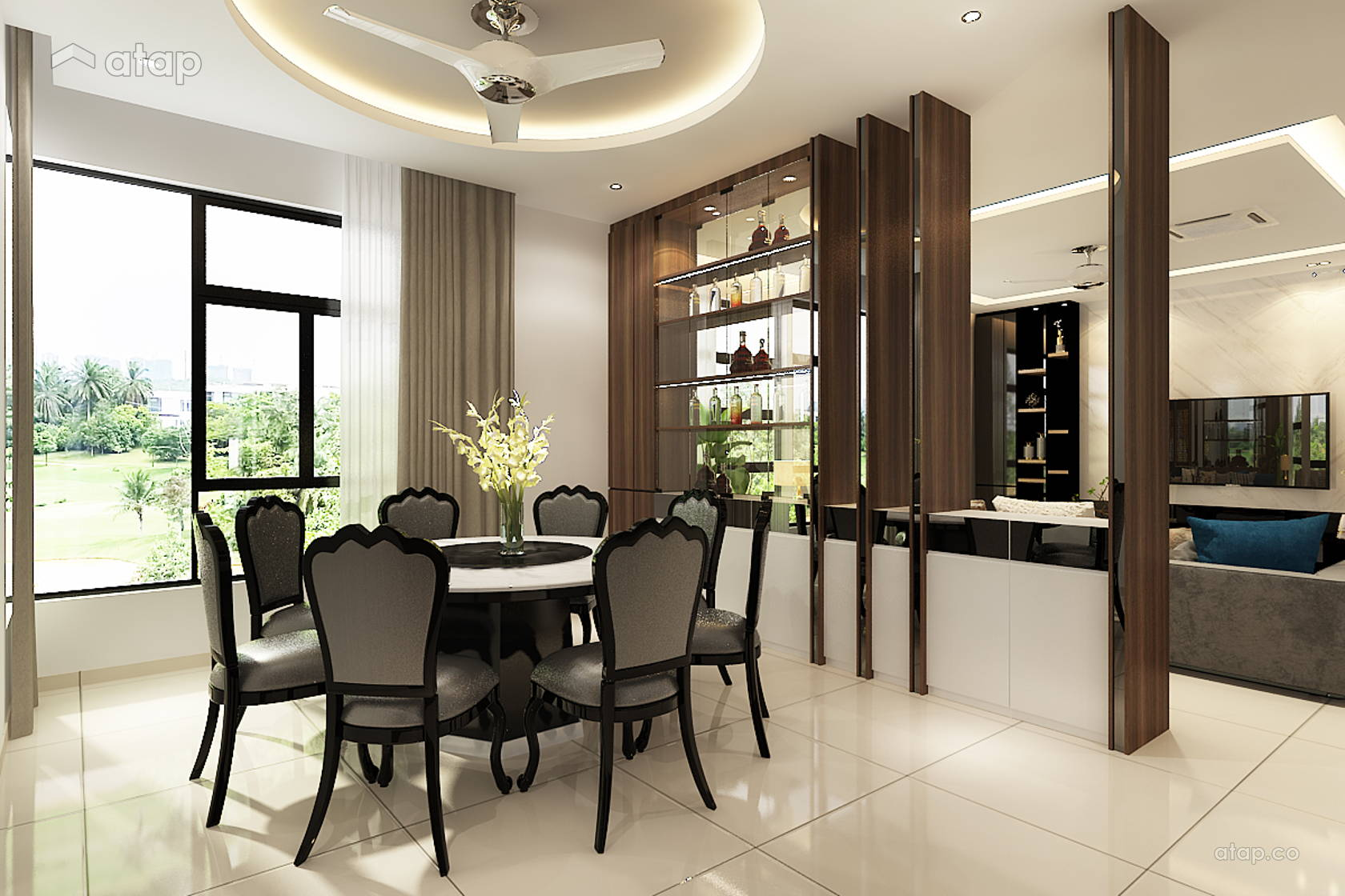 Modern Dining Room bungalow design ideas & photos Malaysia ...