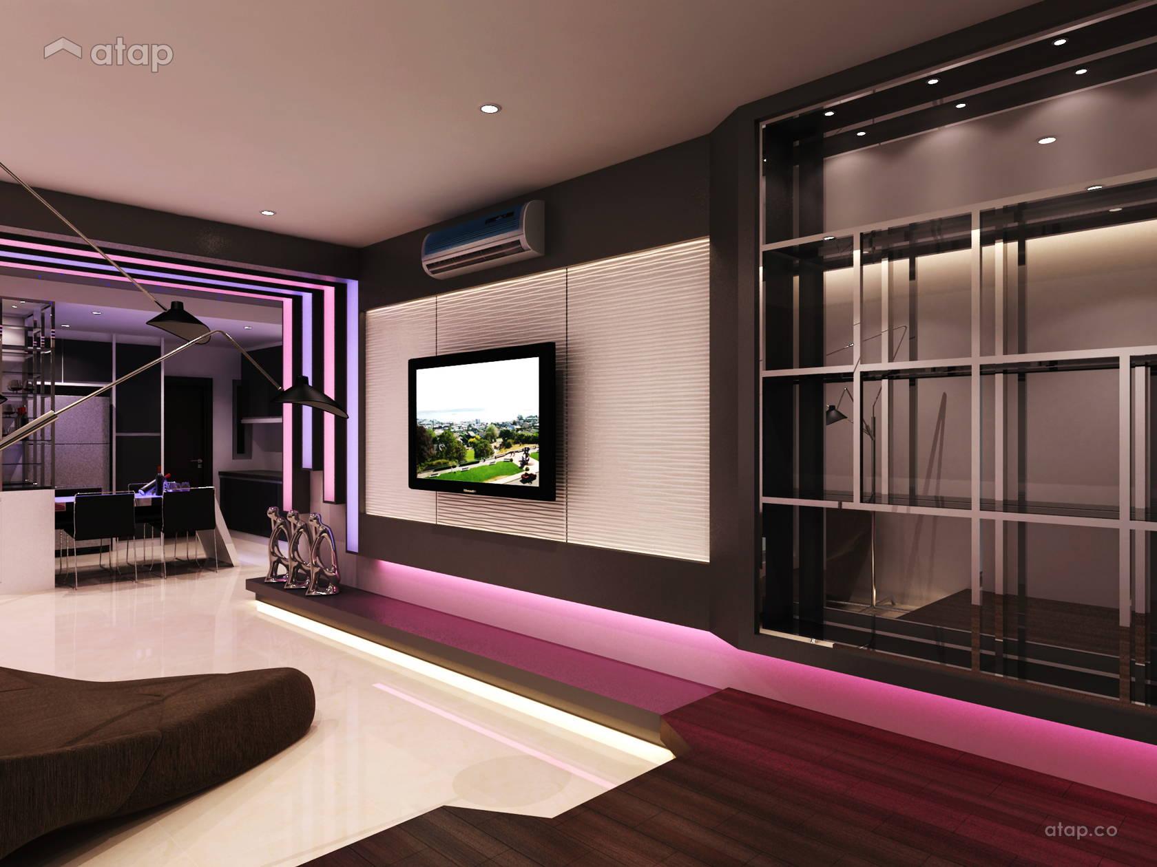 Contemporary Modern Living Room condominium design ideas ...
