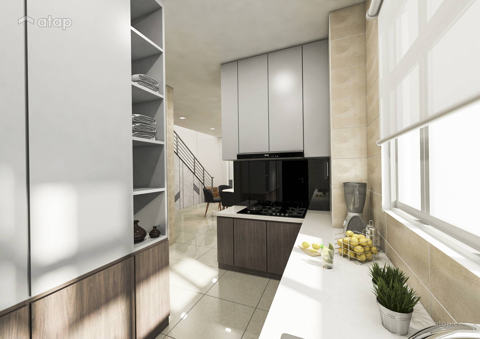 Contemporary Modern Kitchen @ Cluster Home