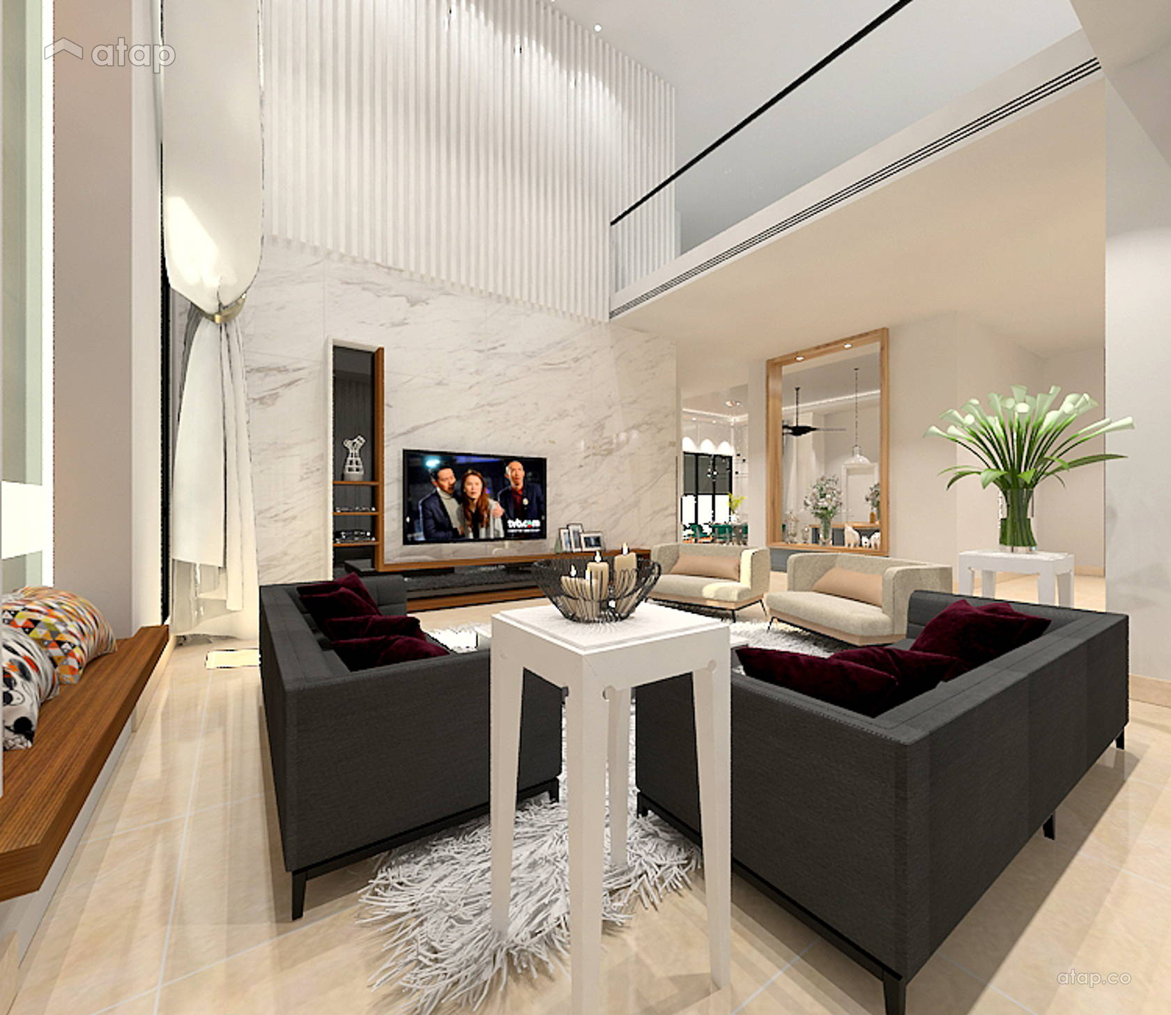 Modern living room bungalow design ideas photos malaysia for Modern living room malaysia