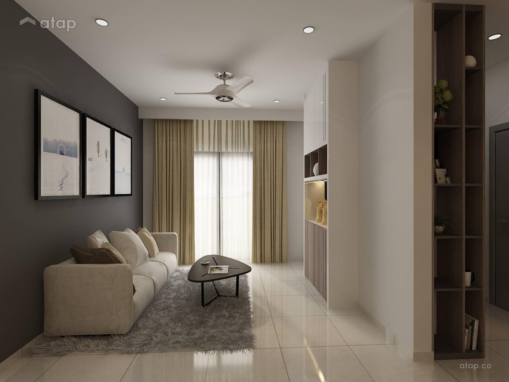 Minimalistic Family Room Terrace Design Ideas Photos Malaysia